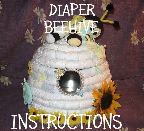 """INSTRUCTIONS How To Make a BEEHIVE from diapers. Great Gender Reveal idea; """"What's it gonna BEE?"""""""