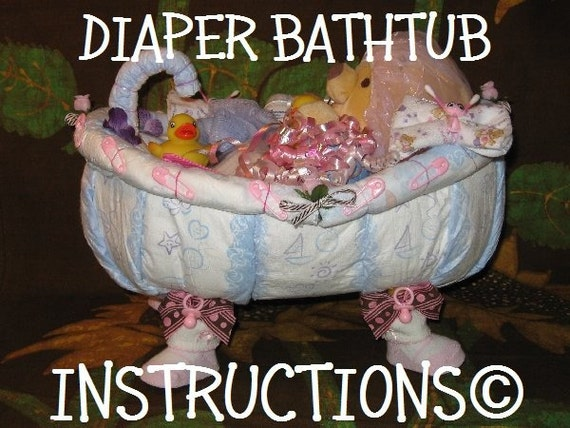 Learn 2 make this ADORABLE BATHTUB diaper cake. Fill it up with bathtime goodies.