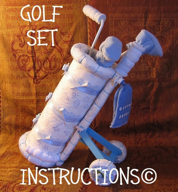 How To Make Golf Caddy Diaper Cake