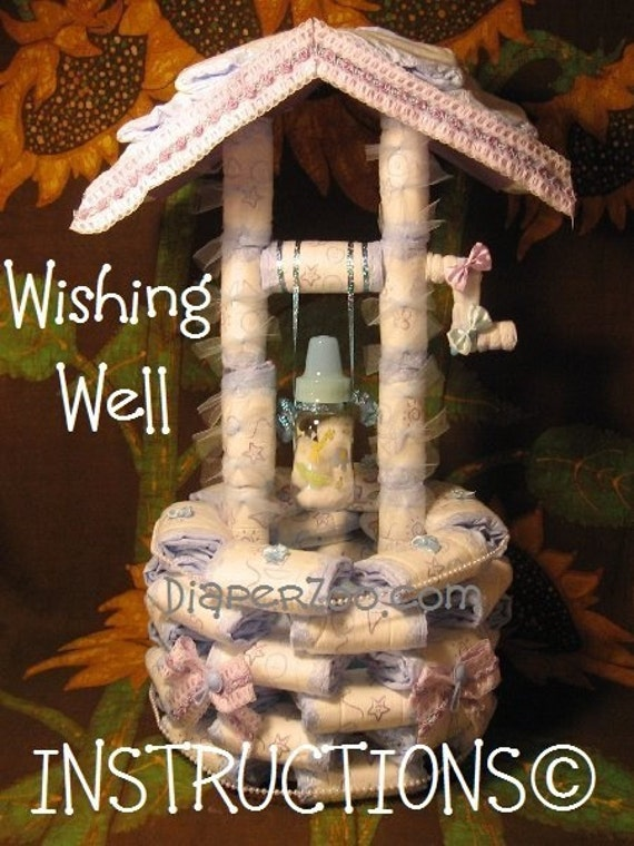 how 2 make a diaper wishing well instructions gr8 for baby shower