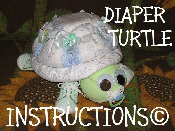 How To Make A Turtle From Diapers Instructions For Diaper Cake