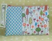 Long Legged Bird Looking for Long Legged LadyBug - Fabric Zipper Wallet Pouch