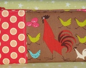 Running Chickens - Fabric Zipper Carrier Pouch