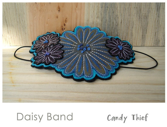 Hand printed Floral Band