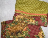 CLEARANCE Hunting Pillowcases, Standard Size Set of Two