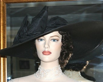Somewhere in Time Hat Titanic Hat Edwardian Downton Abbey Hat Kentucky Derby Hat - Titanic - Wide Brim Hat Womens