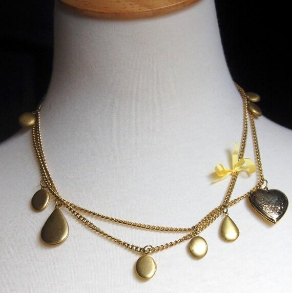 locket garden necklace