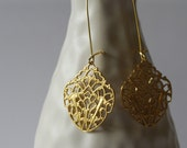 Small Gold Filigree Earrings