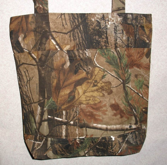 New Large Tote Bag Handmade with RealTree AP Camo Fabric