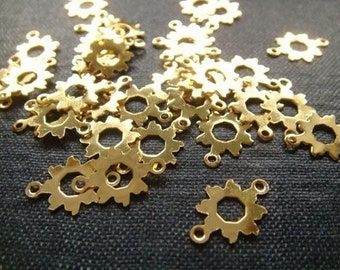 2for1 CLEARANCE - Gold Plated Sun Connectors - 48pcs (now 96pcs)