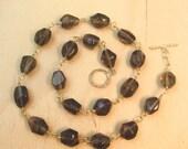 Smoky quartz necklace