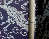 Small blue stork blank journal