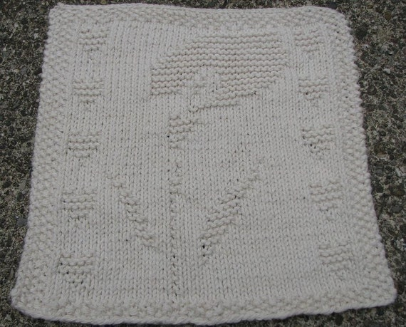 Calla Lily Dishcloth PDF Knitting Pattern