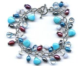 Sleeping Beauty Turquoise And Multi Gem Bracelet FD433C