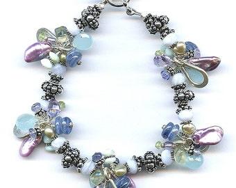 Pearl And Multi Gem Bracelet FD434
