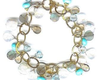 Sleeping Beauty Turquoise And Multi Gem Bracelet FD403