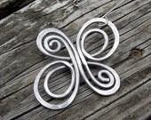 Celtic Knot Infinite Swirl Cross Ornament - Celtic Cross Aluminum Wire Christmas Ornament - Holiday Ornament, Christmas Tree Ornament