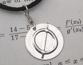 Null Geeky and Nerdy Silver Pendant - Mathematics, Math Jewelry, Math Teacher Gift, Science Jewelry Geek, Mathematician