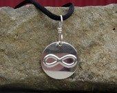 Infinity Symbol Sterling Silver Pendant, Math Jewelry, Infinity Necklace, Unisex Geekery Jewelry, Nerd, Mathematic, Math Teacher Gift