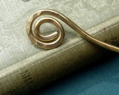 Brass Simple Spiral Hair Stick, Shawl Pin, Scarf Pin, Hair Pin, Bun Holder, Long Hair Accessories, Knitting Accessories, Women Hair Toy