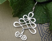 Celtic Tree Sterling Silver Pendant, Tree of Life, Christmas Tree Necklace, Celtic Jewelry Holiday Gift Christmas Tree Pendant Silver Wire