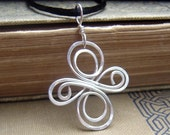 Celtic Knot Cross Sterling Silver Pendant - Infinity Swirl Celtic Necklace, Irish Celtic Jewelry, Confirmation Gift, Women