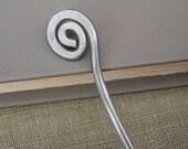 Simple Spiral Aluminum Hair Stick, Shawl Pin, Scarf Pin - long hair accessory, bun holder, hair pin, women, long hair accessories, accessory