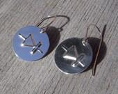 Diode Symbol Sterling Silver Earrings - Electronics Geek Jewelry, Science Jewelry, Geekery Jewelry Engineering, Scientist Gift, Electrical