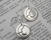 PNP Transistor Symbol Geekery Earrings - Sterling Silver Nerd Science Jewelry - Electronics, Teacher, Scientist