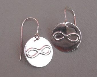 Sterling Silver Infinity Earrings - Math Jewelry - Geekery, Nerd - Math Teacher Gift - Science Jewelry - Forever Love, Women