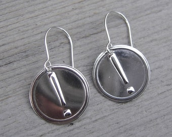Exclamation Mark Sterling Silver Earrings - Exclamatiion Point Earrings - Punctuation Geekery Nerd Jewelry - Typesetting