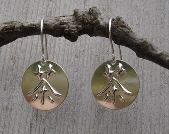 Tea- Japanese Kanji and Chinese Character Cha Tea Silver Earrings - Asian Jewelry