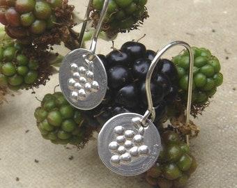 Little Grapes Earrings -  Small Sterling Silver Grape Jewelry - Wine, Oenologist, Viticulture, Women