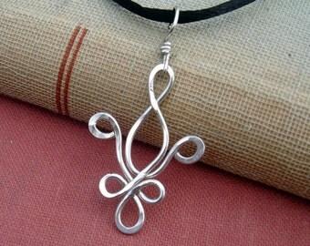 Fleur De Lis Necklace, Sterling Silver Necklace  New Orleans Jewelry Gift for Her, Fleur De Lis Pendant, Quebec Fleur de Lis Jewelry Women