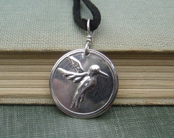 Hummingbird Pendant Necklace, Mother's Day Gift for Her, Sterling SilverHummingbird Jewelry - Pendant, Charm, Bird, Women