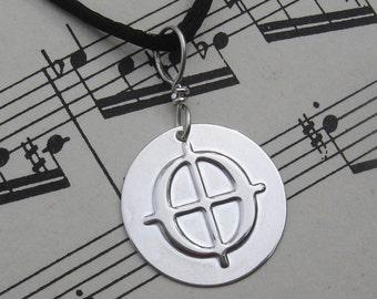 Coda Symbol Pendant, Coda Necklace, Music Jewelry, Music Necklace, Musician Gift, Coda Jewelry, Coda Charm, Music Notation, Unisex
