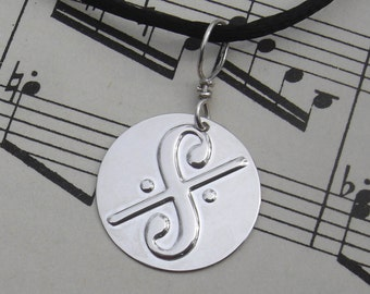 Dal Segno Music Symbol Necklace, Musician Gift, Music Jewelry, Music Teacher Gift, Pendant, Unisex, Men, Music Necklace, Charm, Notation