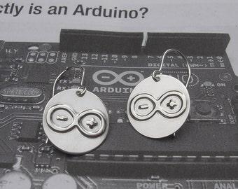 Arduino Earrings Geekery, Computer Science Jewelry, Electronics Jewelry, Computer Programmer, Computer Geek Gifts, Women Computer Nerd Atmel
