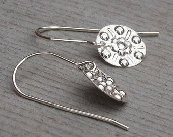 Tiny Dots Sterling Silver Earrings - Small Silver Earrings With a Little Southwest Vibe - Dangles, Women, Jewely, Jewellery, Earring