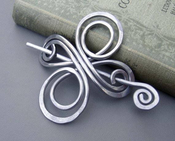 Celtic Knot Infinite Swirl Cross Aluminum Shawl Pin