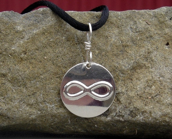 Infinity Symbol Sterling Silver Stamped Pendant
