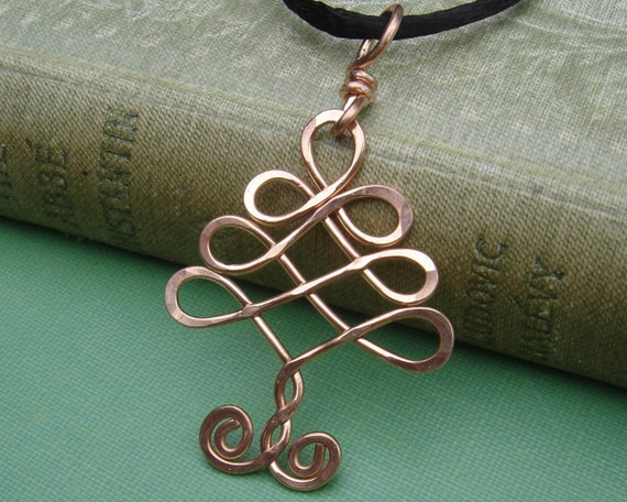 Celtic Tree Copper Pendant, Christmas Tree Copper Wire Necklace Gift for Her, Celtic Tree of Life, Celtic Jewelry, Christmas Gift, Women