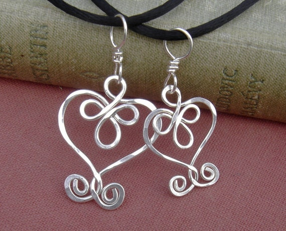 Mother Daughter Celtic Heart Pendants,Mother's Day Gift Celtic Jewelry Set, Matching Necklaces Sterling Silver,Wife, Mommy and Me, Women