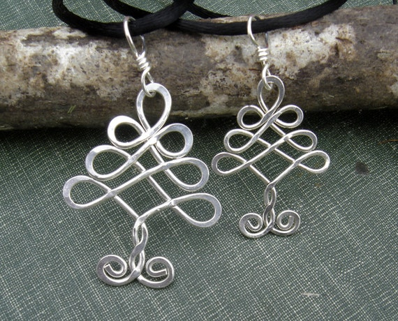 Mother and Child Celtic Tree Silver Pendants, Mother's Day Celtic Christmas Tree Matching Set Necklace, Mommy and Me Tree of Life Jewelry