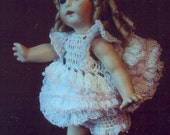 Crochet Pattern Dolls Party Time Baby Dress Bloomers Thread Crochet Pattern 6 Inch  Dolls