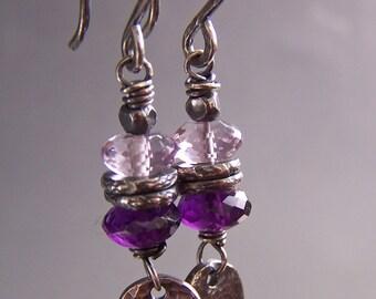 Purple Earrings Amethyst Gem Stones Boutique -Utterly Purple
