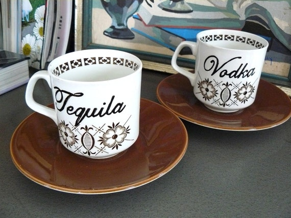 SALE Tequila Vodka coffee cups