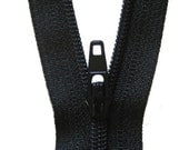 20 YKK 22-Inch Zippers--Black