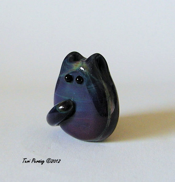 Cat Bead Handmade Lampwork Focal - Juvenal Itty Bitty FatCat