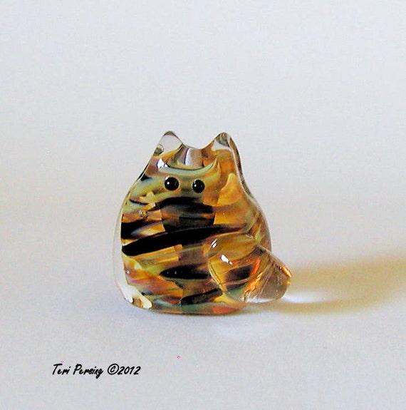 Kitten Handmade Lampwork Bead - Bryant Itty Bitty FatCat